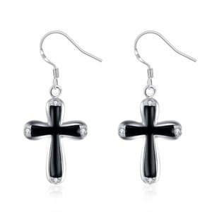 Jewelry - Black Cross Earrings